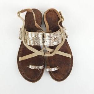 Freebird by Steven Ocean gold sandals Size 37